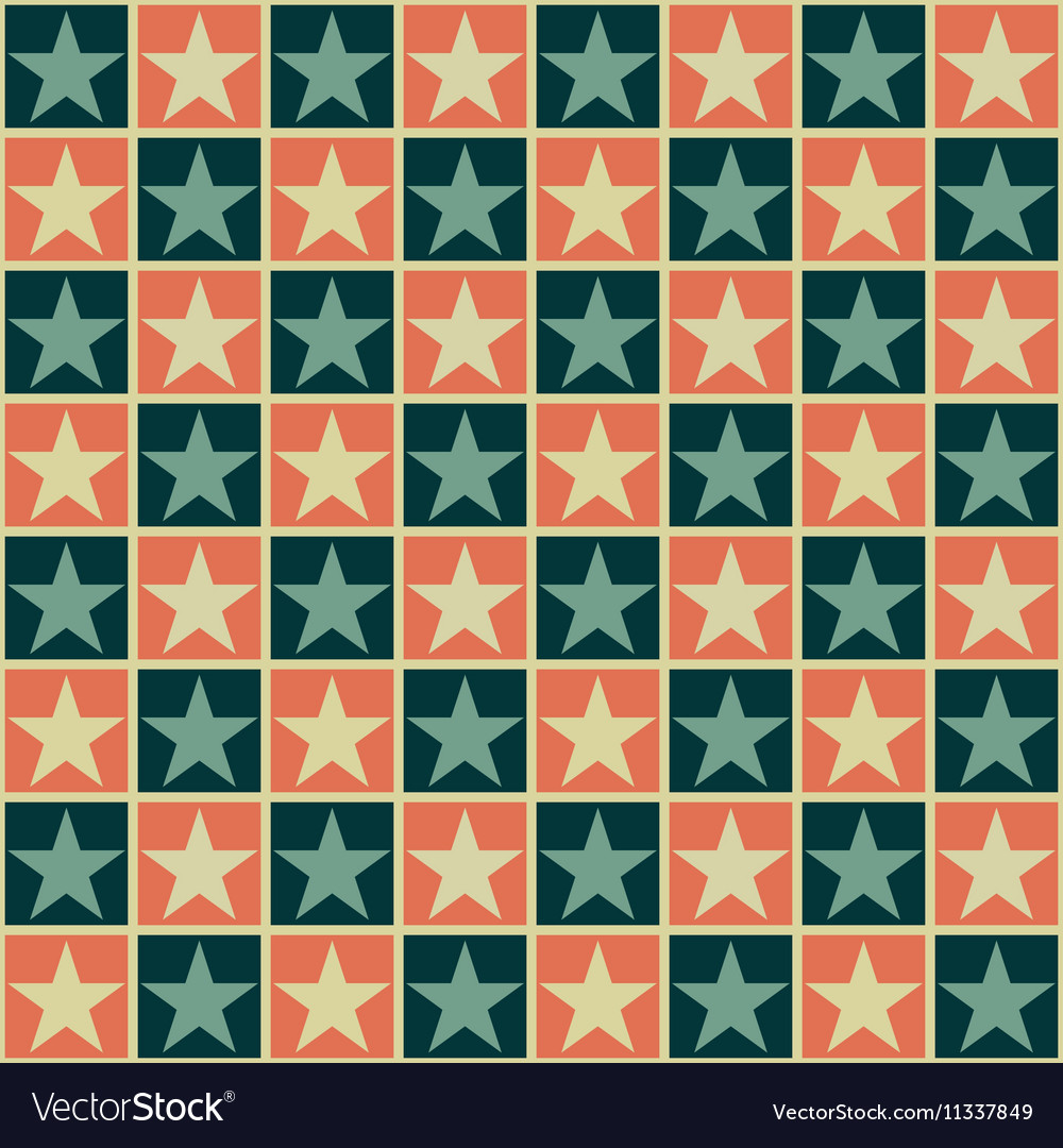 Retro pattern with stars