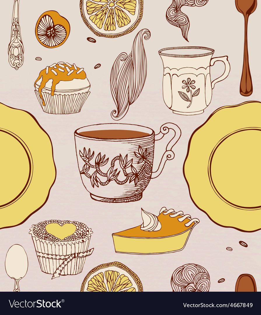 Sweet cupcakes and tea