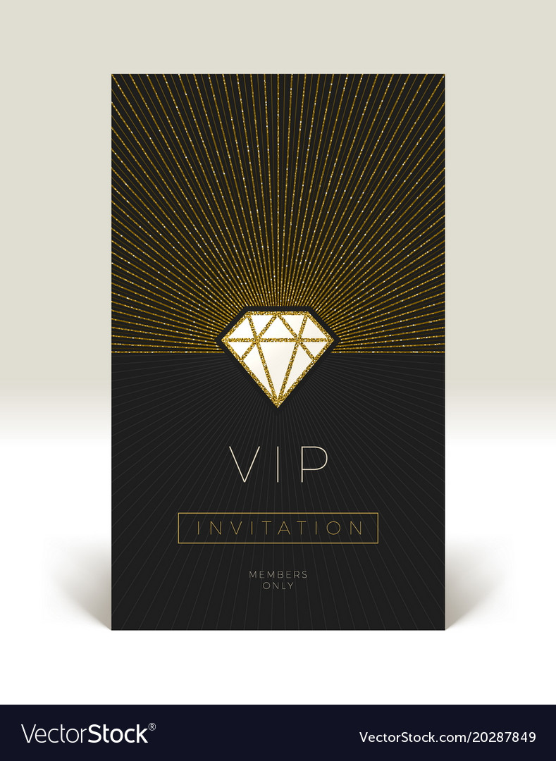 Template of vip invitation