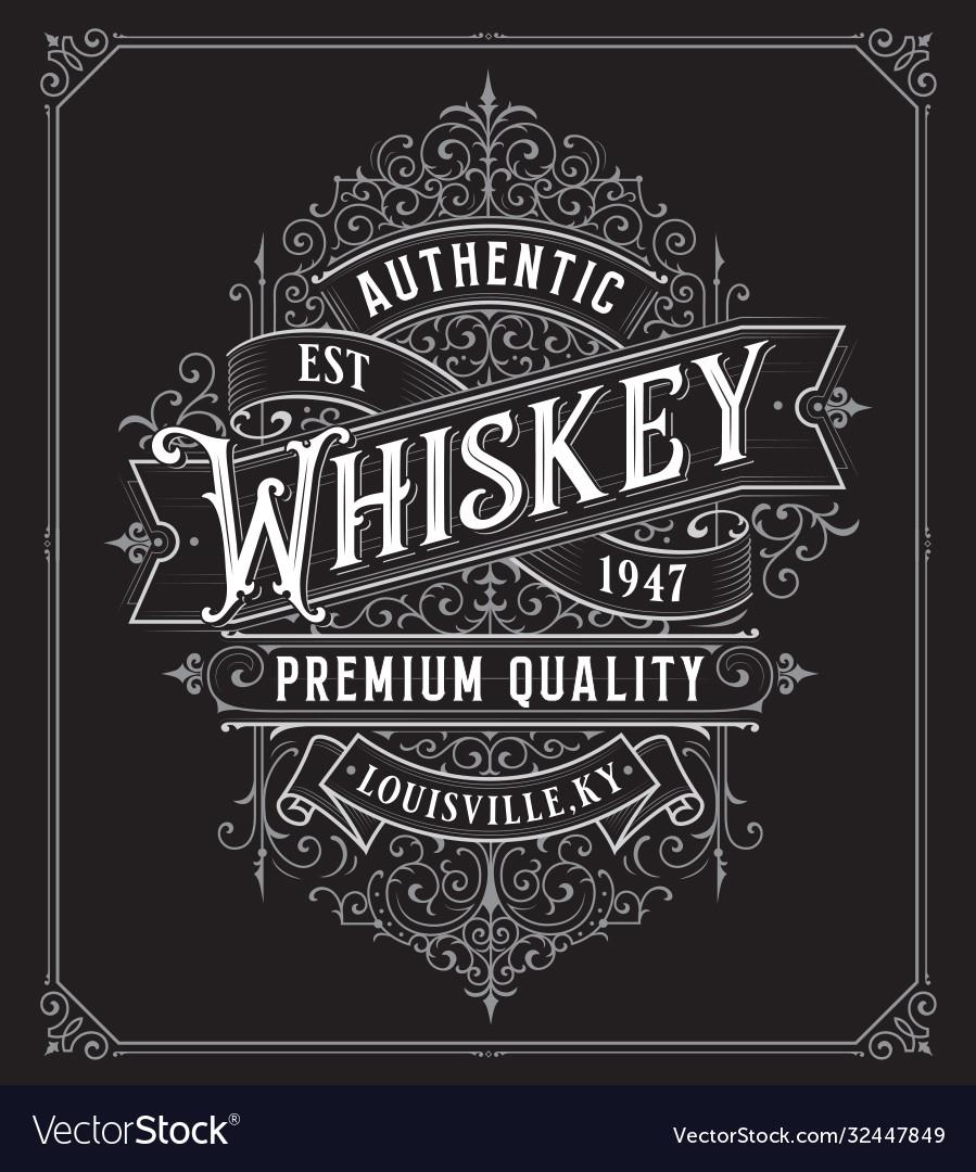 Vintage whiskey style frame boarder