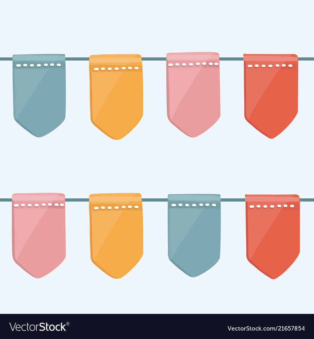 4th july seamless bunting pattern