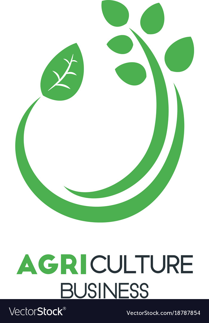Agriculture business logo template with green vector image wajeb Image collections
