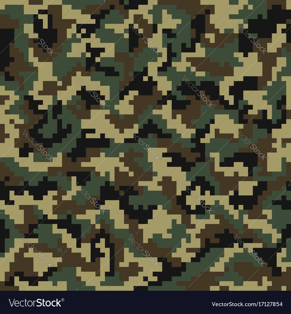 camouflage pattern digital camouflage seamless vector image rh vectorstock com green digital camo vector digital camo vector free download