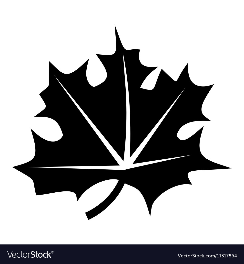 Canadian maple leaf icon simple style vector image