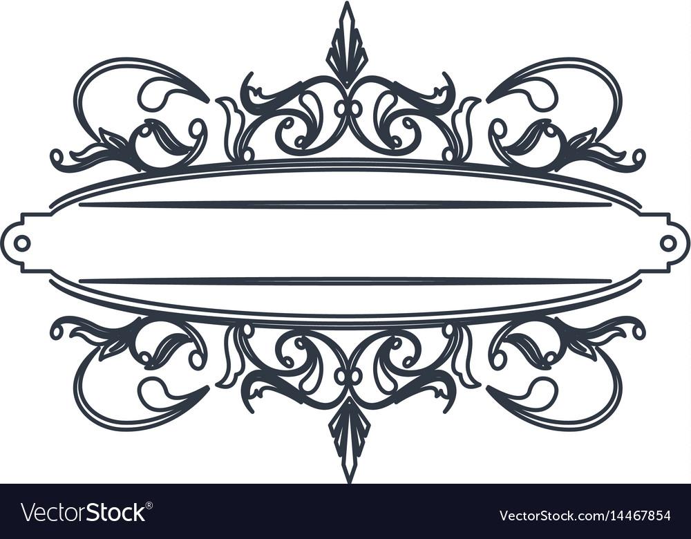 classic signboard swirls decoration template vector image rh vectorstock com swirl vector art swirl vector graphics