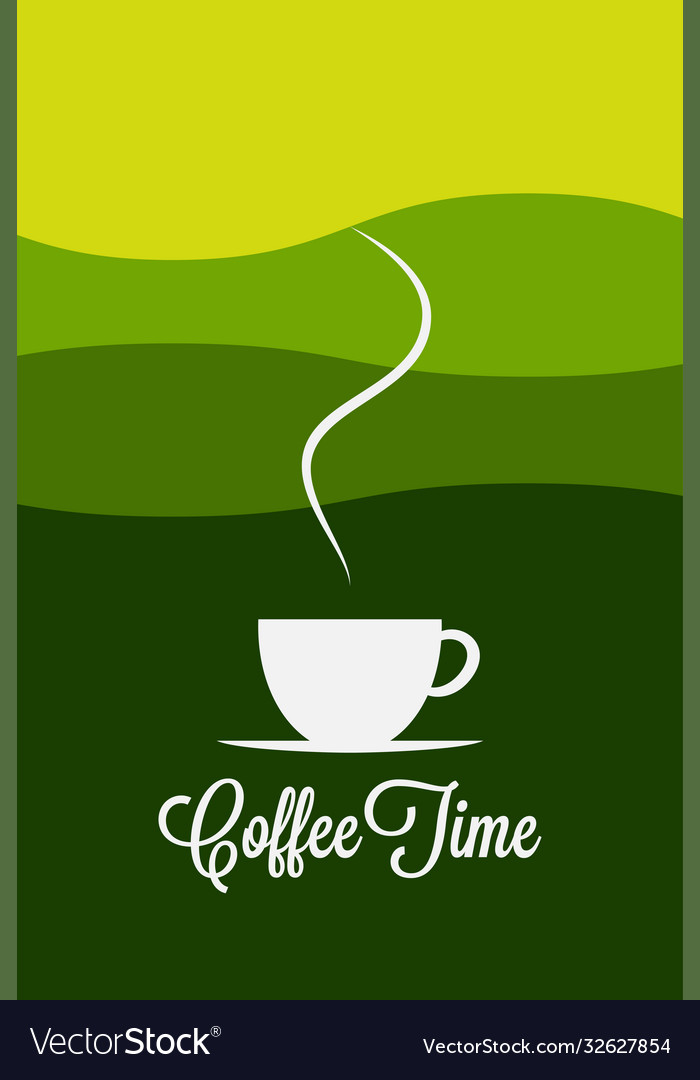 Coffee cup logo coffee morning landscape concept