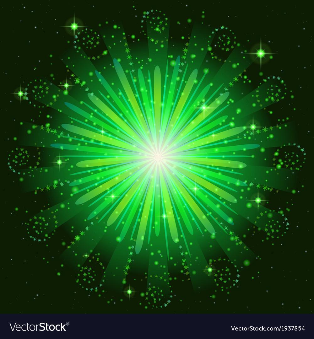 Firework green vector image
