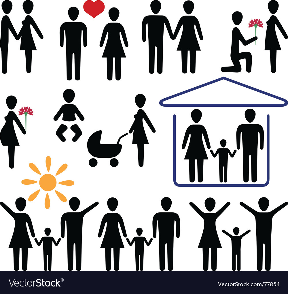 Love and family vector