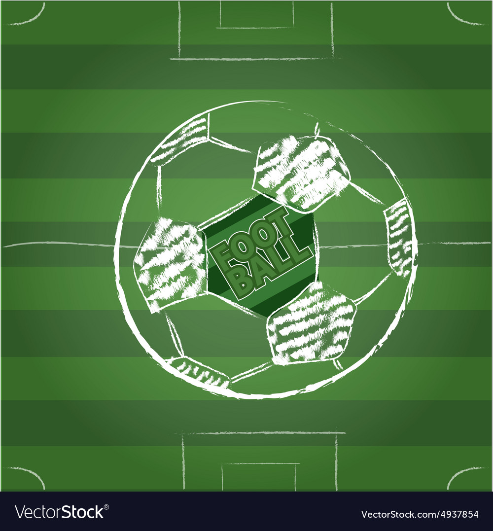 Sketch Soccer Football vector image