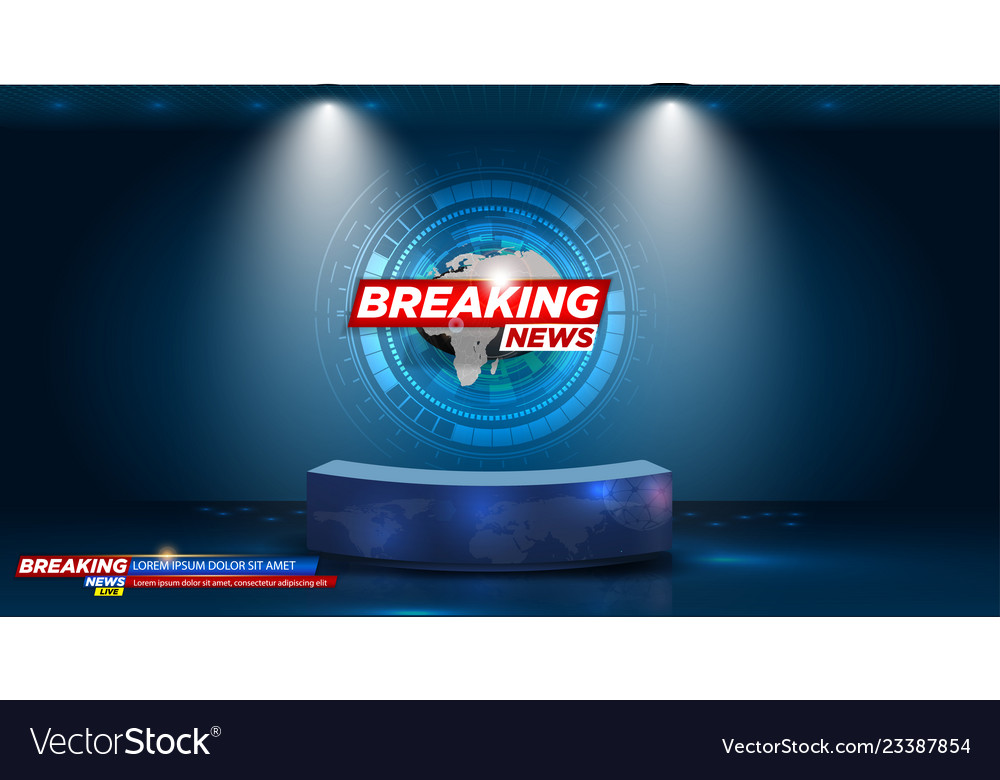 Table and breaking news banner background