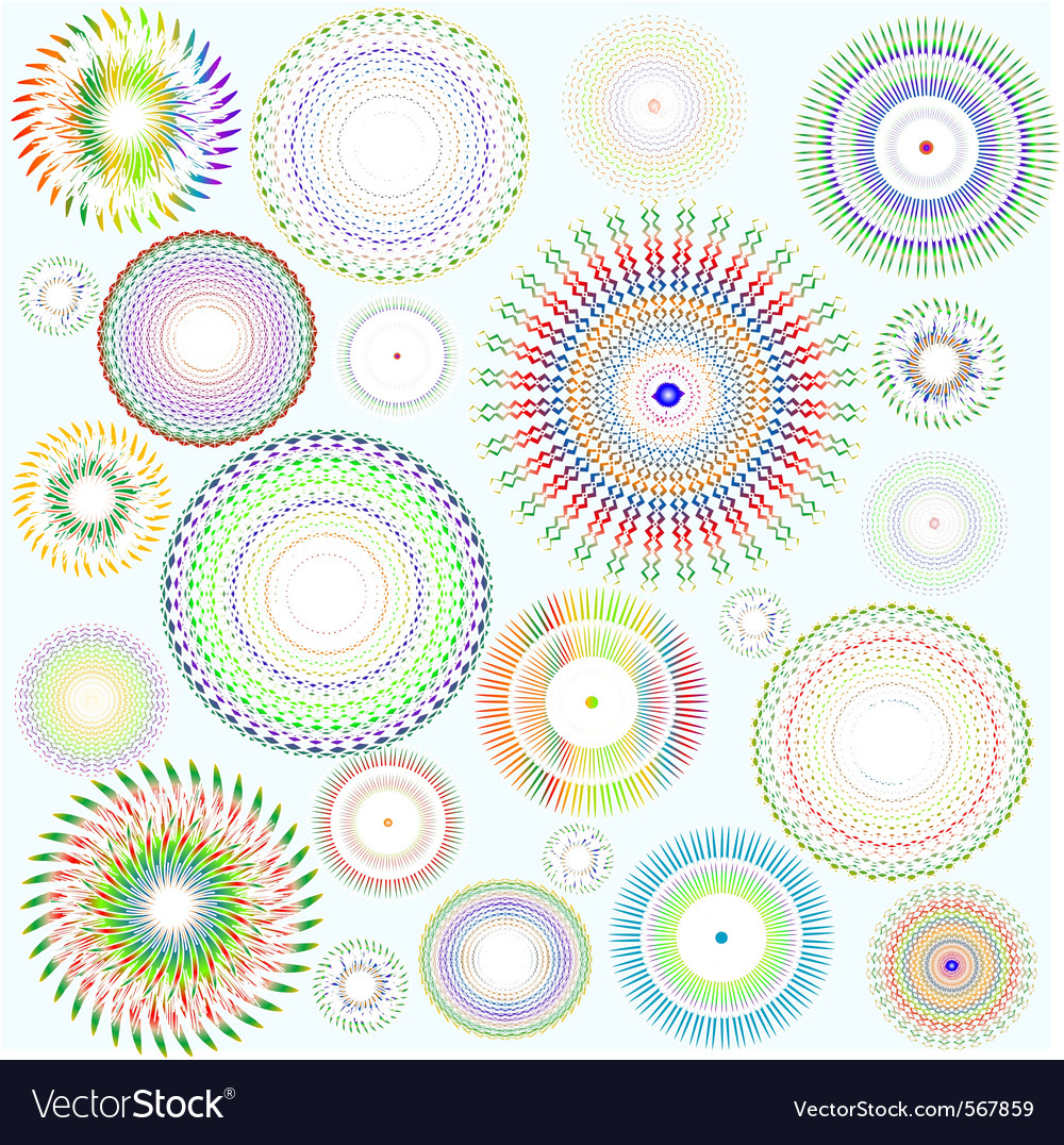 Abstract background floral design element