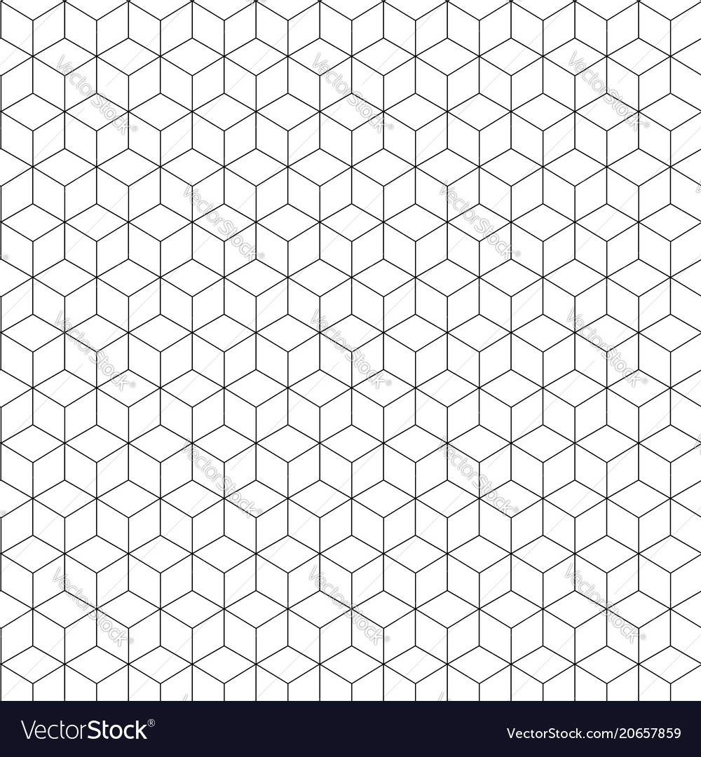 Abstract geometric on white background vector image