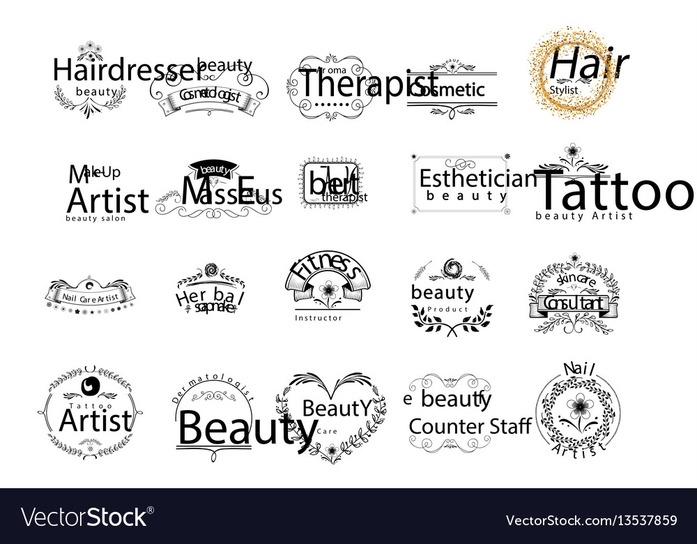 Badges professions in the beauty industry sticker