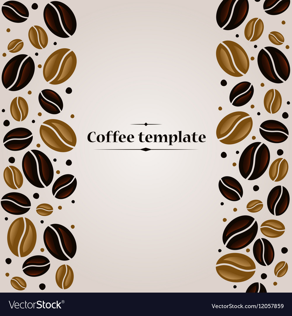 Coffee beans vintage cover design template