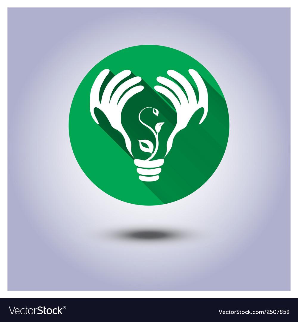 Eco icon sticker
