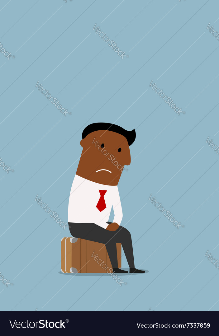 Frustrated businessman lost his job