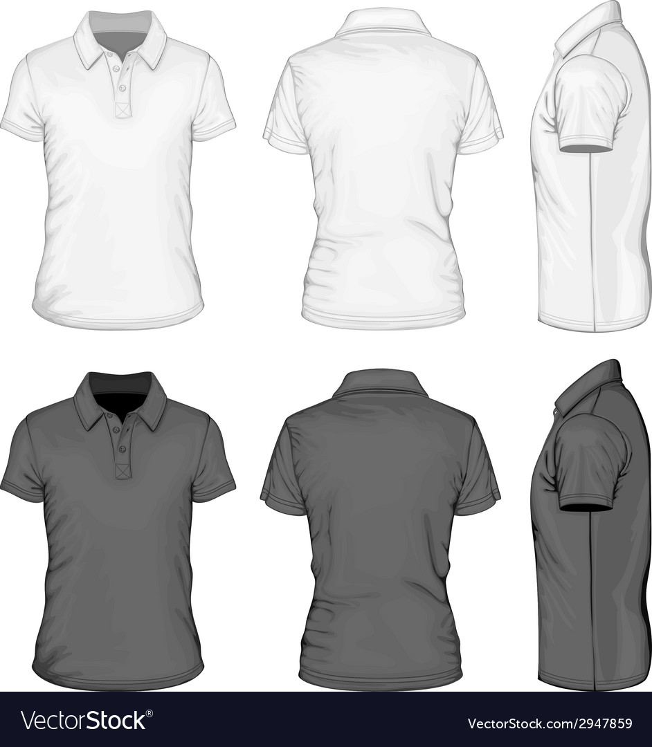 Mens short sleeve polo-shirt design templates