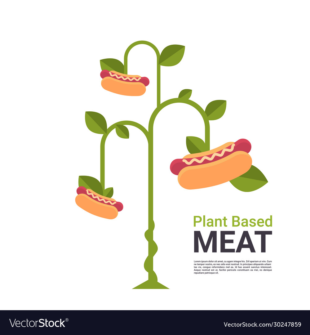 Plant based vegetarian hot dog tree beyond meat