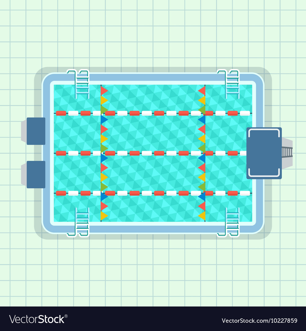 Pool for sports training vector image