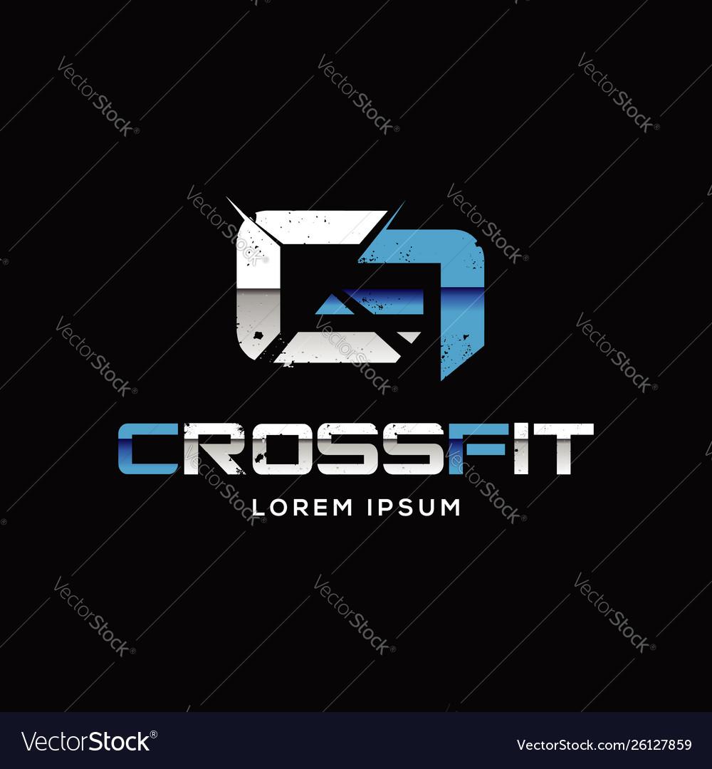Printcrossfit sport logo sign symbol icon