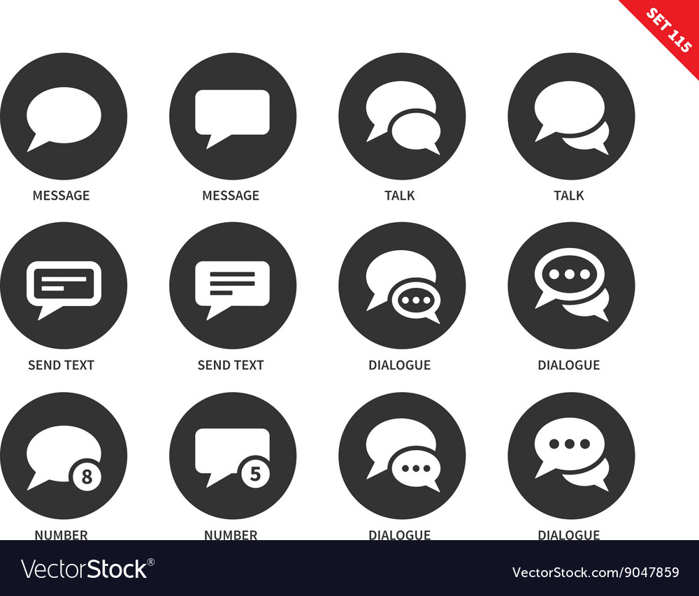 Talking bubble icons on white background