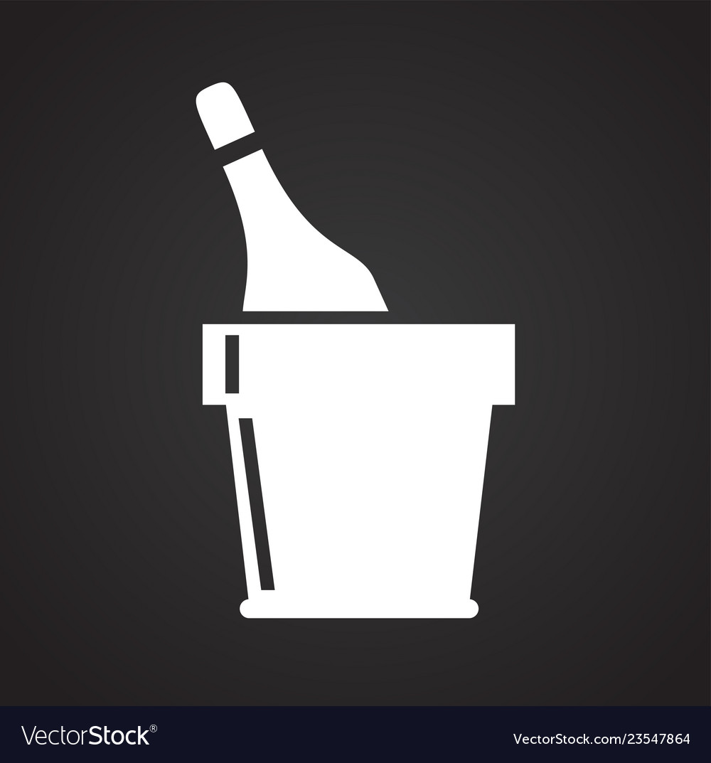 Beverage icon on black background for graphic and