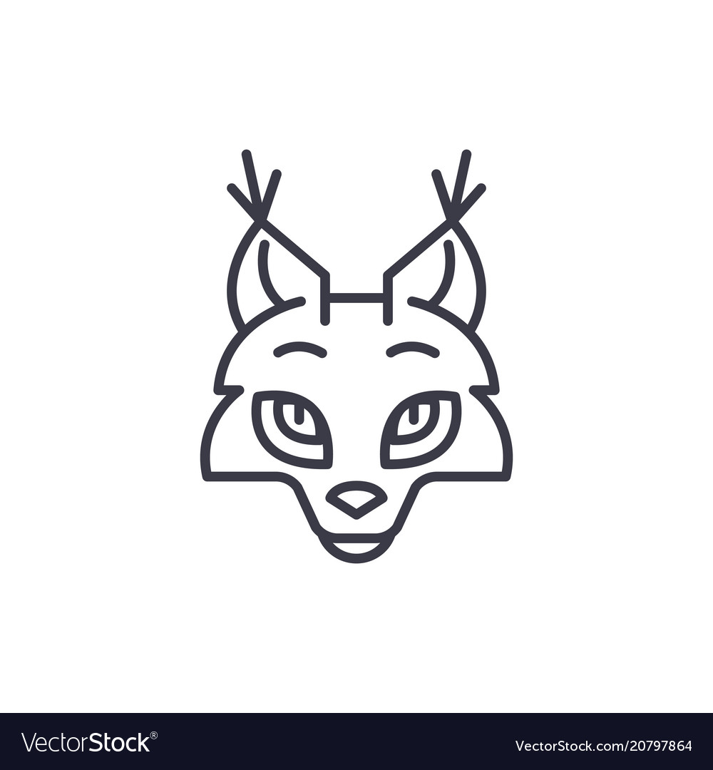 Coyote head line icon sign