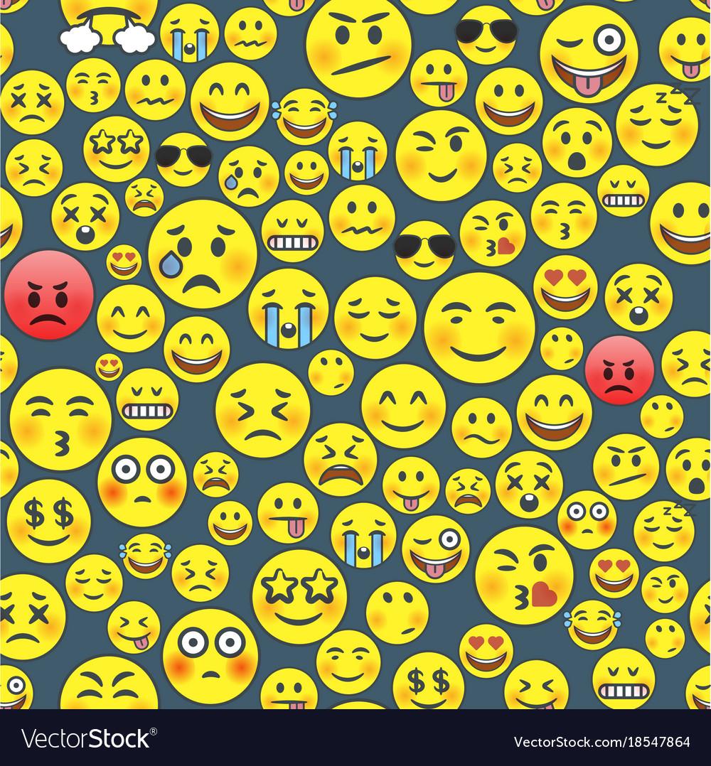 Emoji seamless pattern
