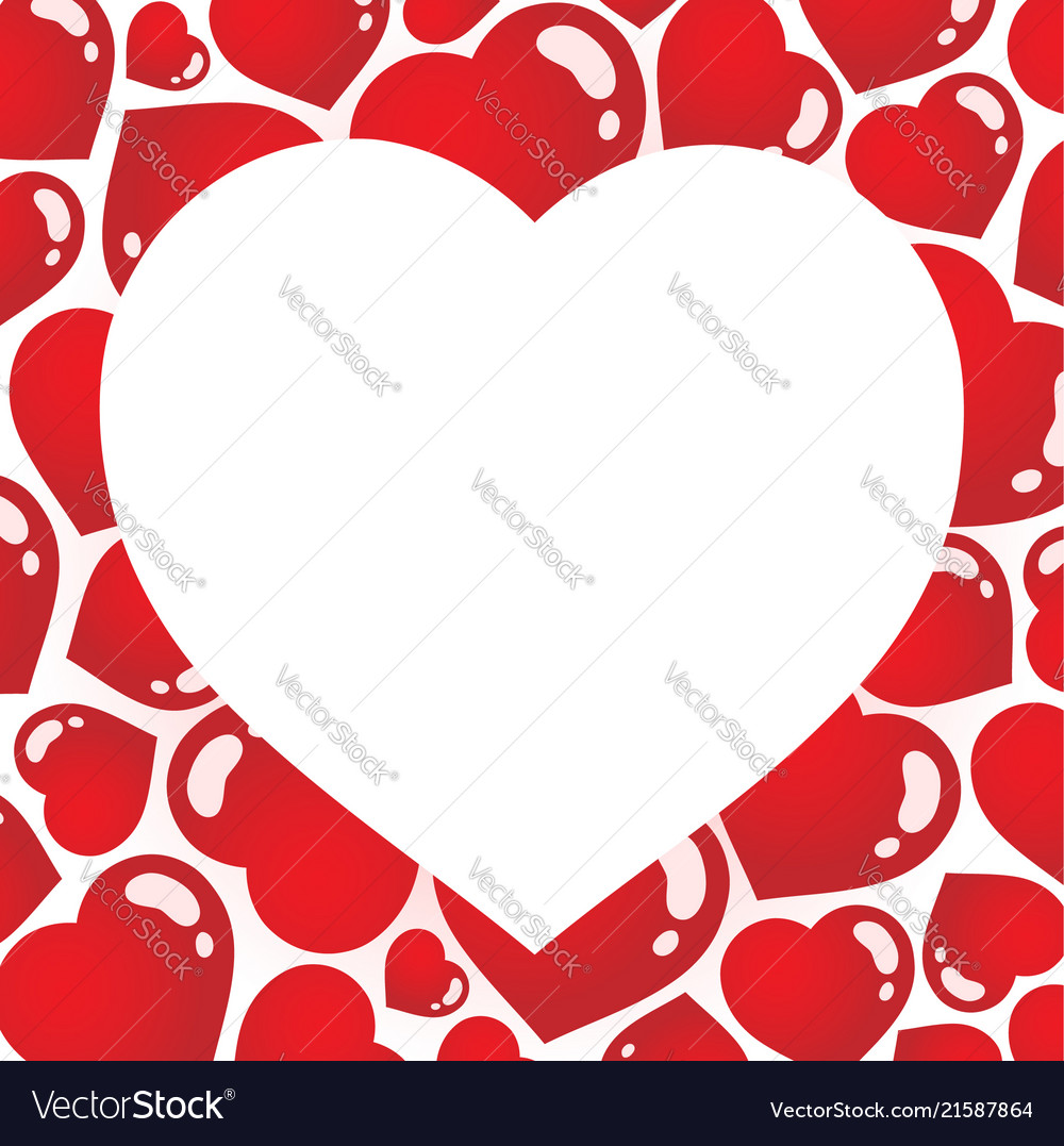 Heart shaped frame 1 Royalty Free Vector Image