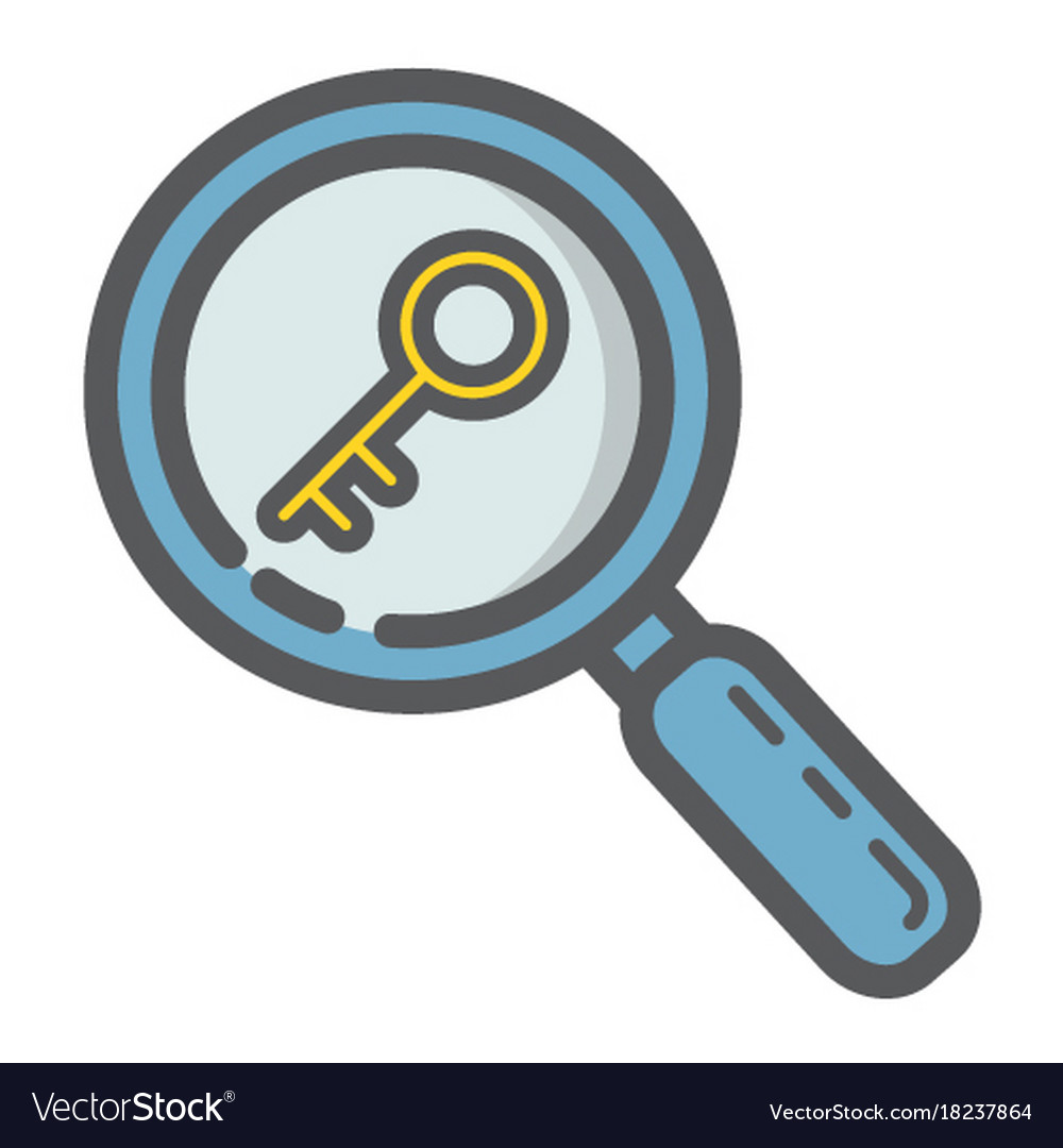 Keyword research filled outline icon seo