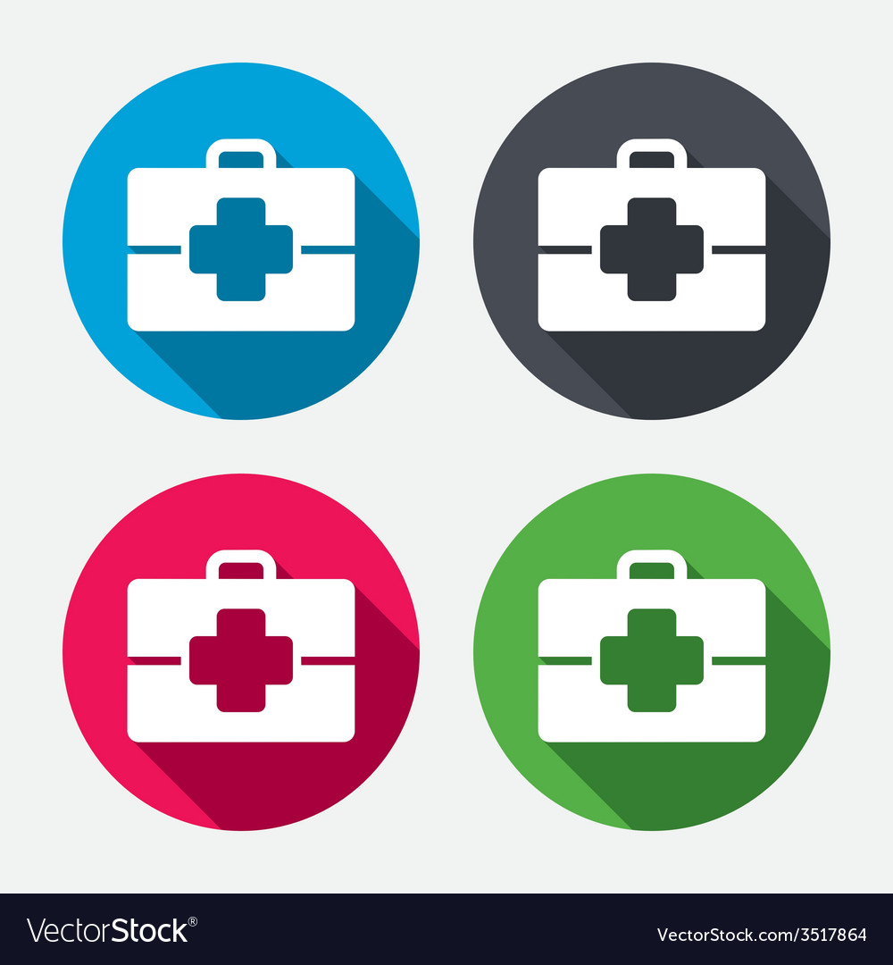 Medical Case Sign Icon Doctor Symbol Royalty Free Vector
