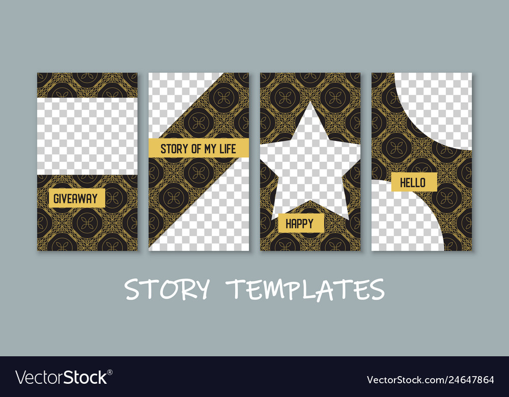 Social media story templates collection
