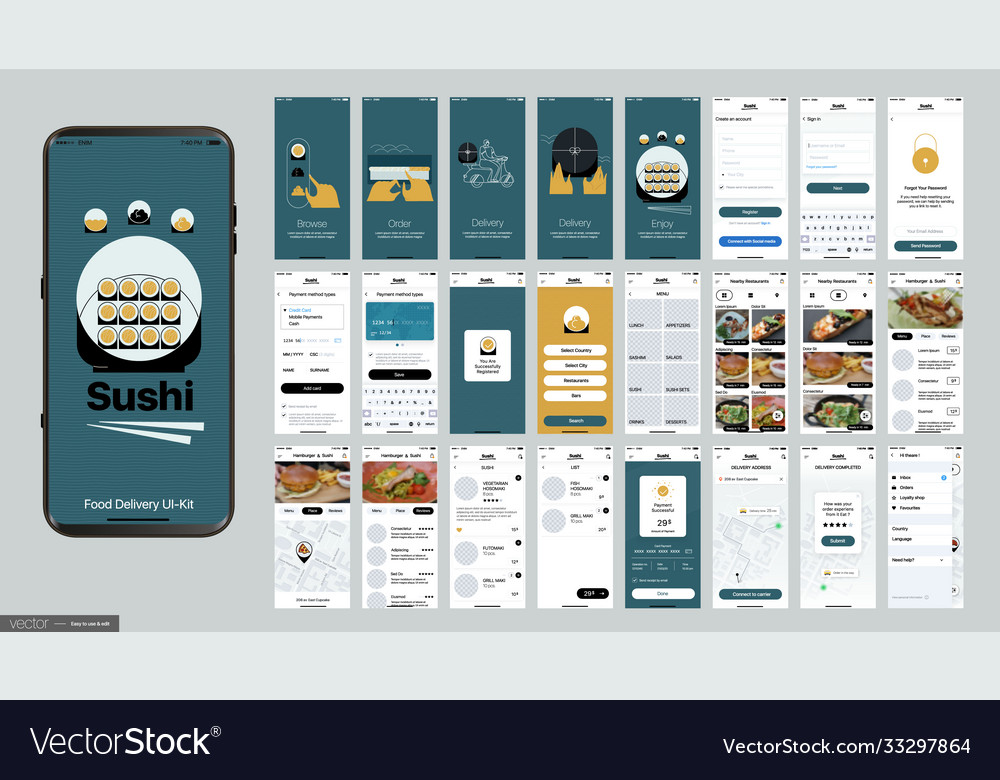 Sushi delivery design mobile application