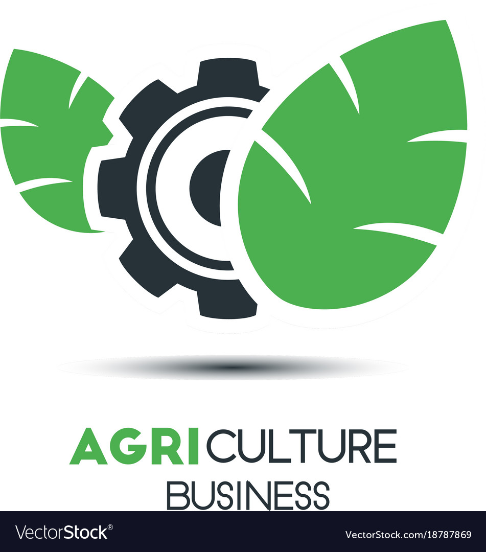 Agriculture logo template icon design two leaf vector image wajeb