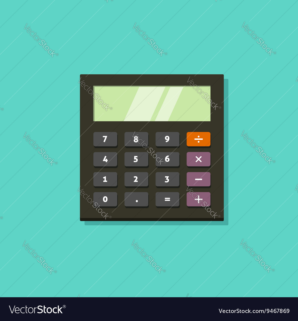 Calculator icon isolated on green