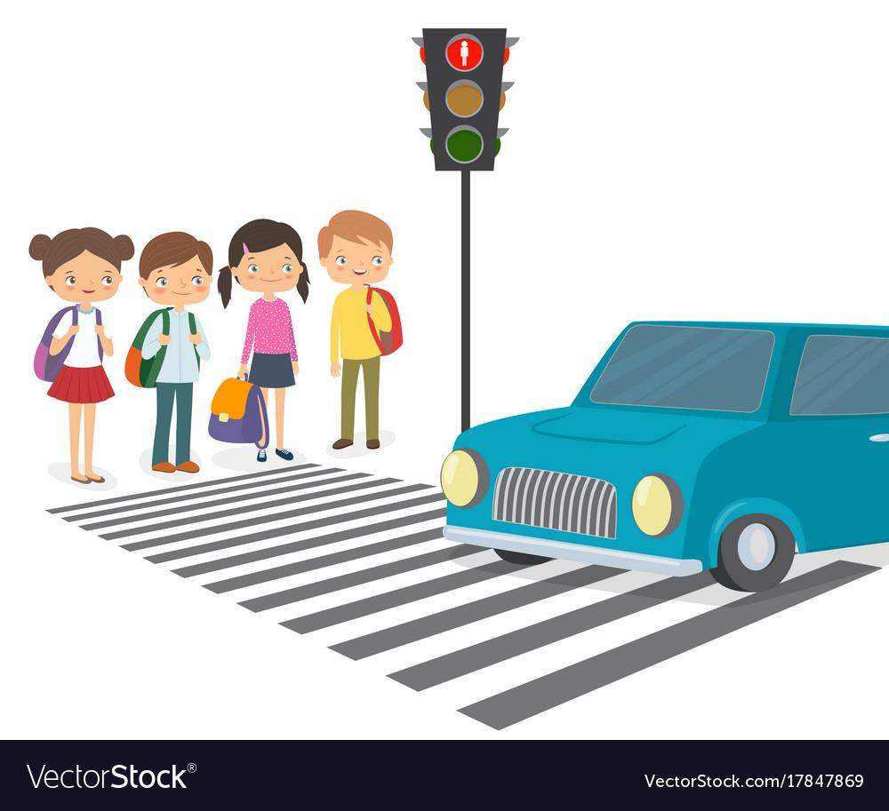 Рисовать картинки с детьми и светофорами и с людьми