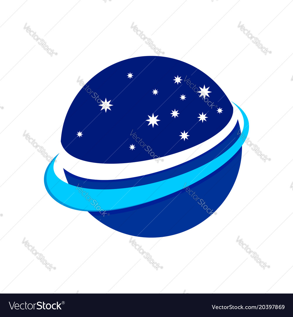 Circular space stars flight symbol logo design