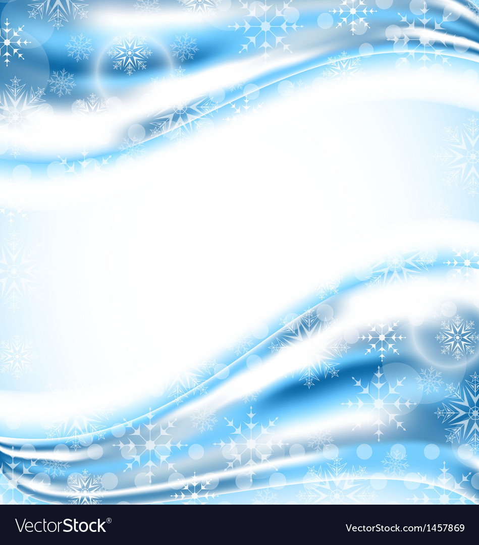 Cute winter wallpaper with snowflakes vector image