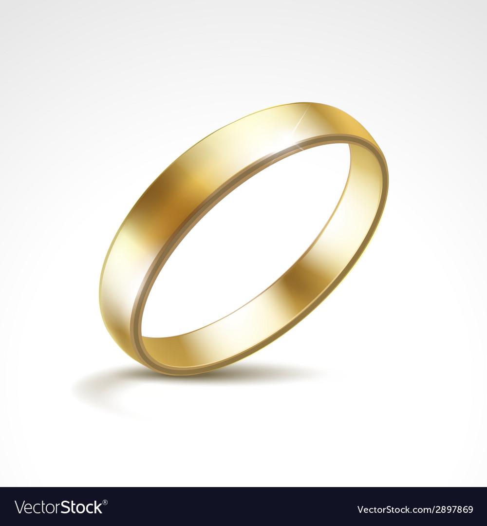 Gold Wedding Ring Isolated