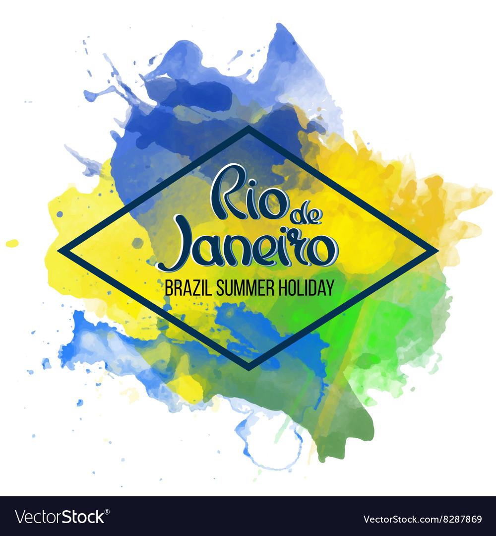 Inscription Rio de Janeiro on a background vector image
