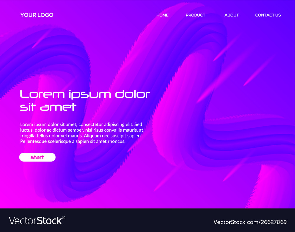 Modern color 3d fluid background template graphic