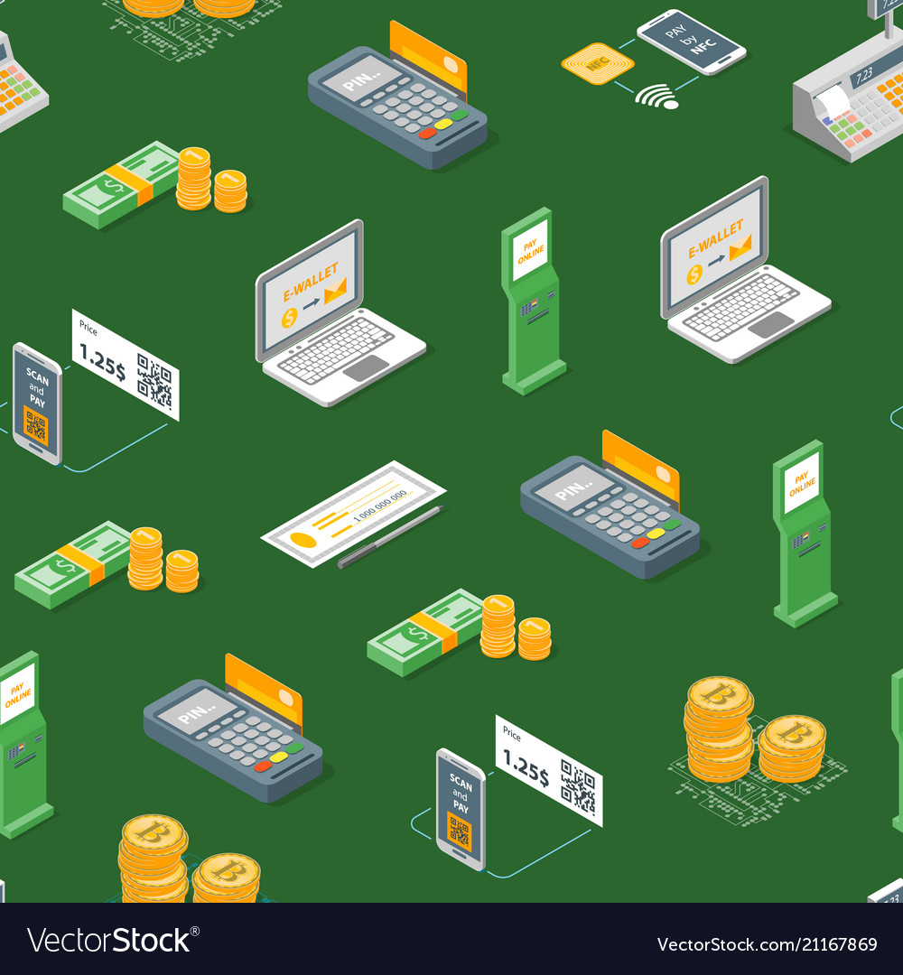 Payment methods seamless pattern background