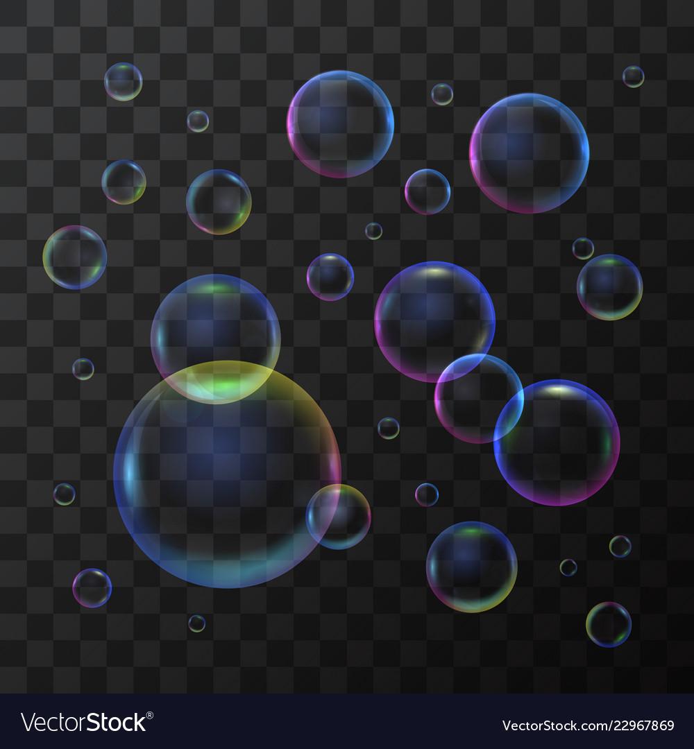 Realistic 3d detailed soap bubble on a transparent