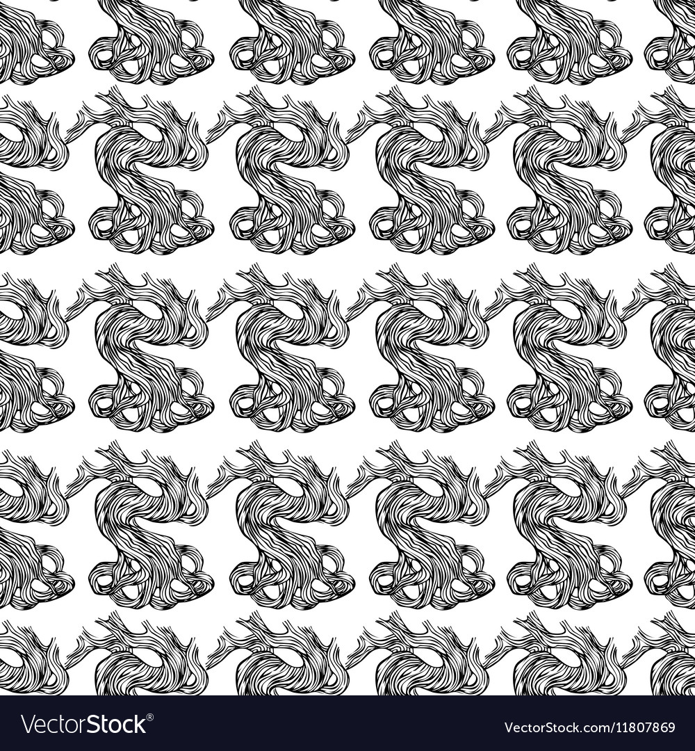 Roots decorative background pattern vector image