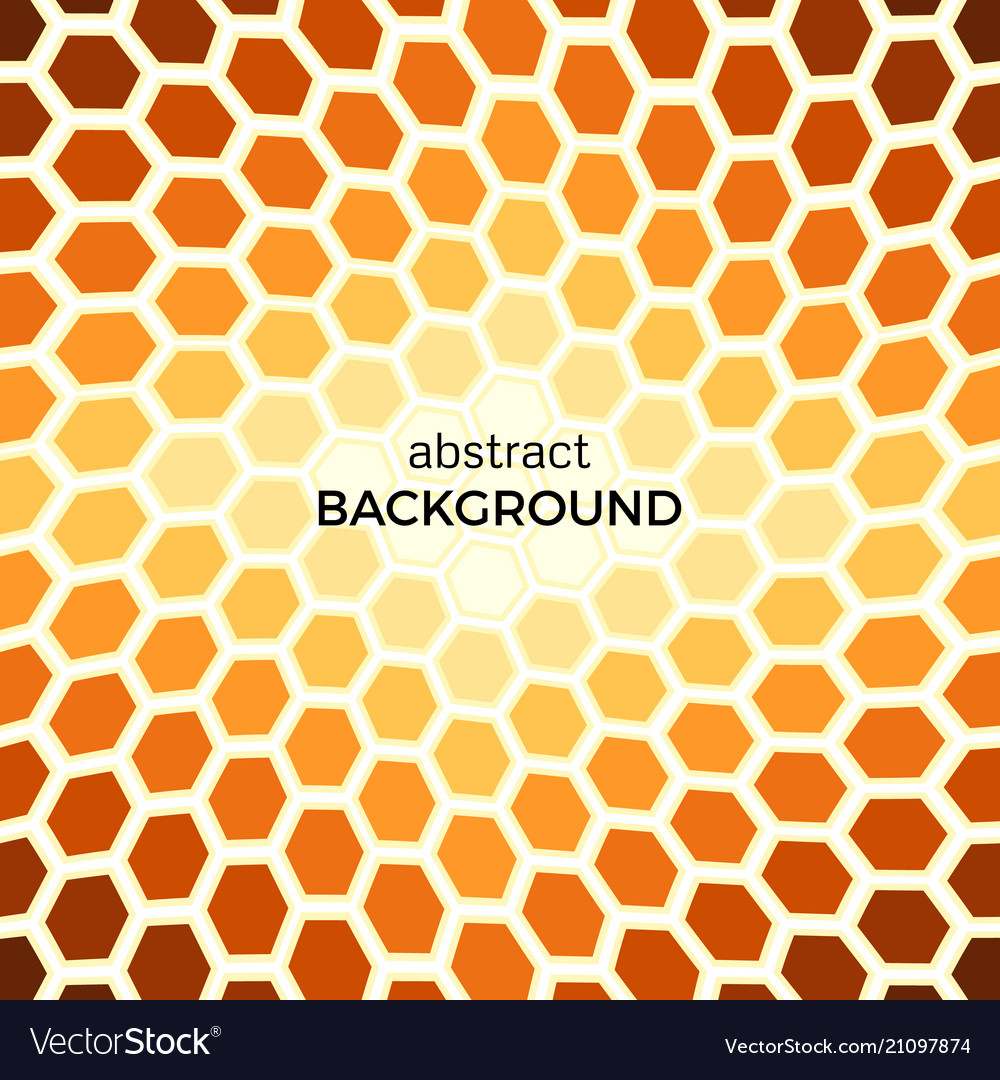 Abstract background with orange hexagons