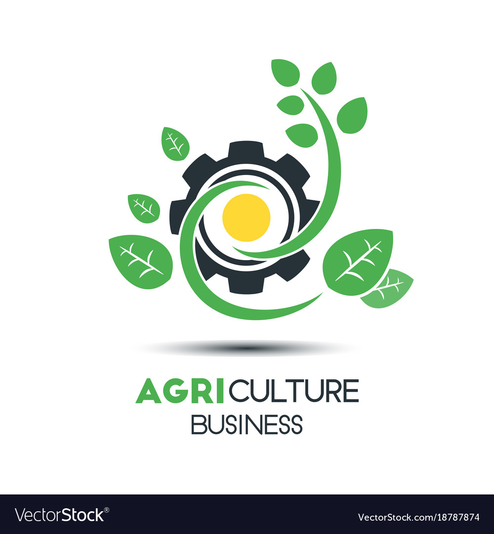 Agriculture business logo template unique green vector image wajeb Images