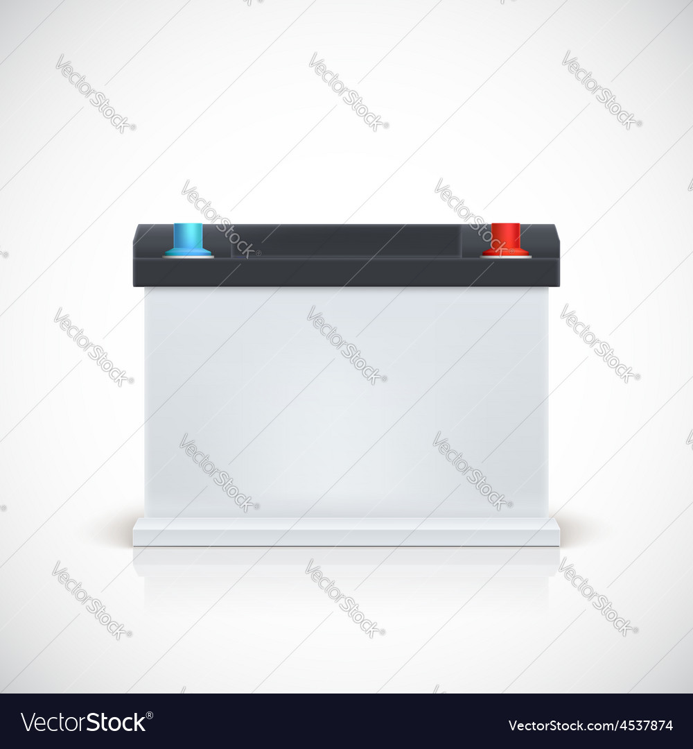 Auto battery front view vector image