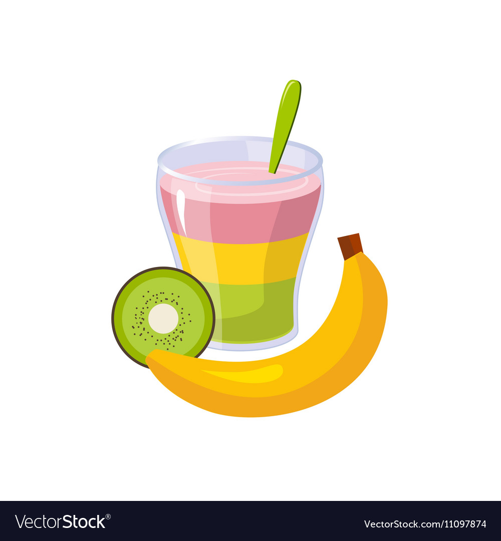 Fruit And Smoothie Breakfast Food Element Isolated
