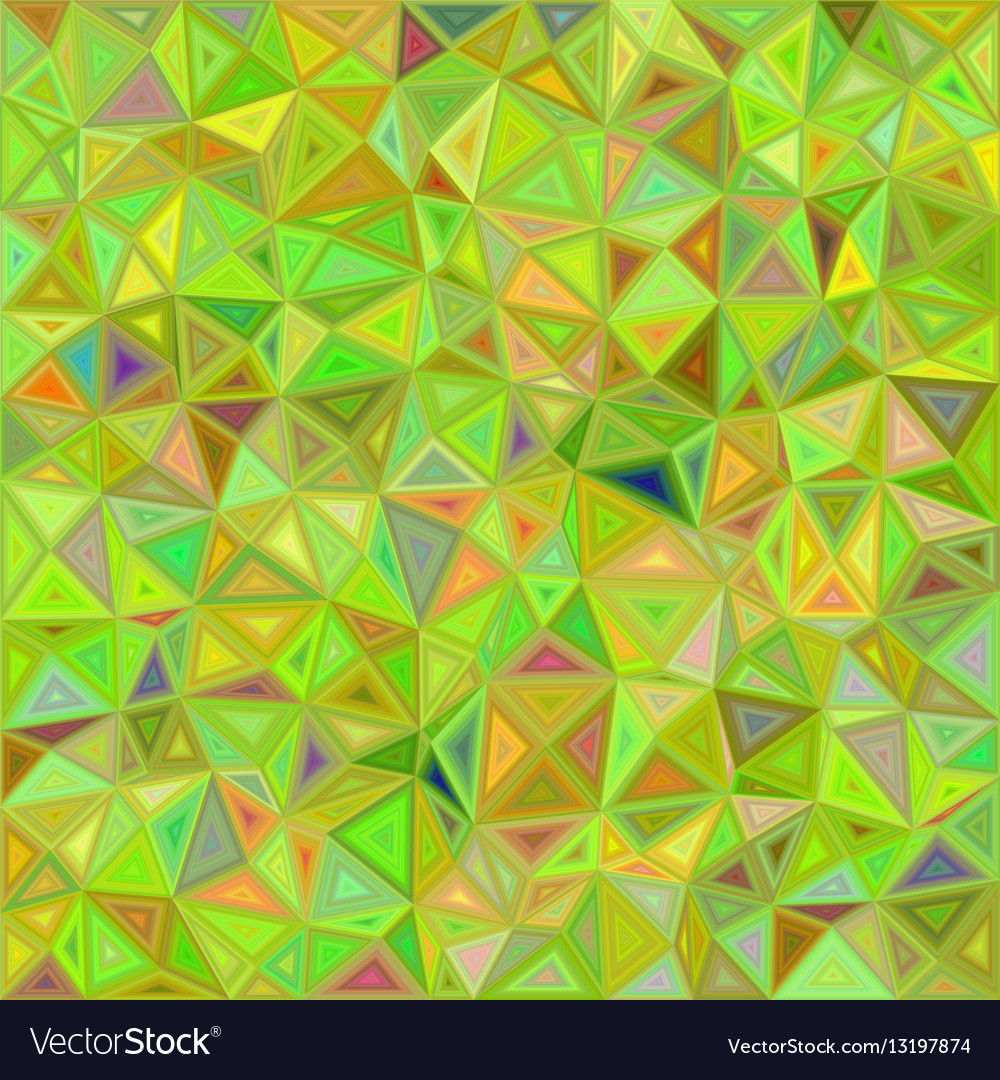 Lime color triangle mosaic background design
