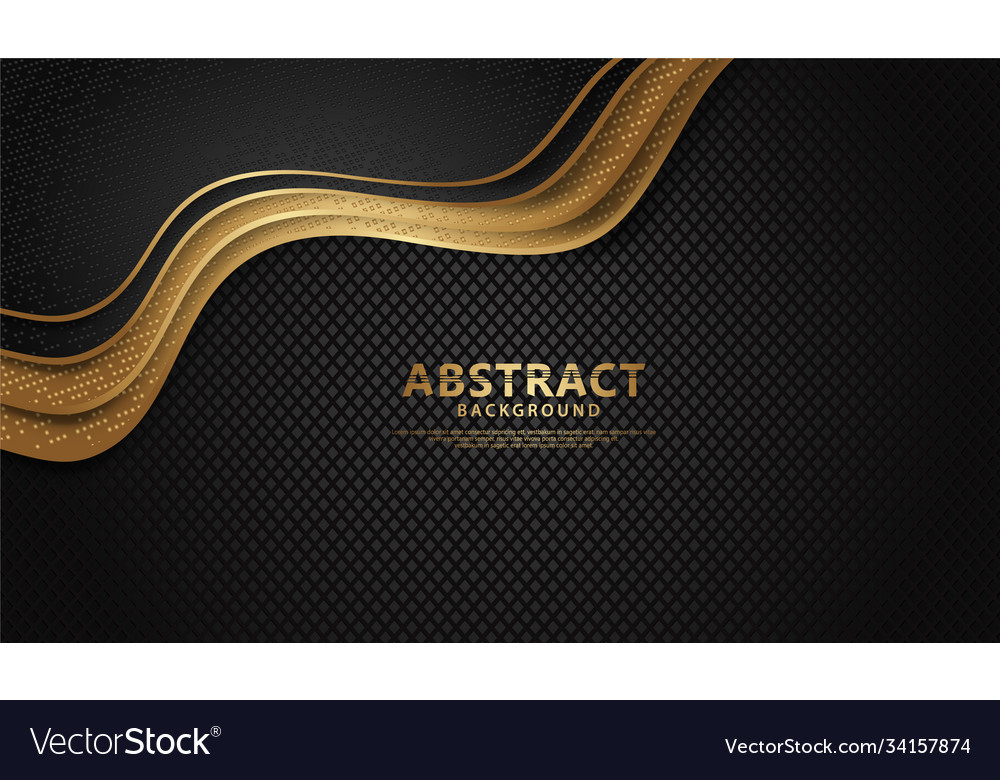 Luxury and elegant wave abstract overlap layer